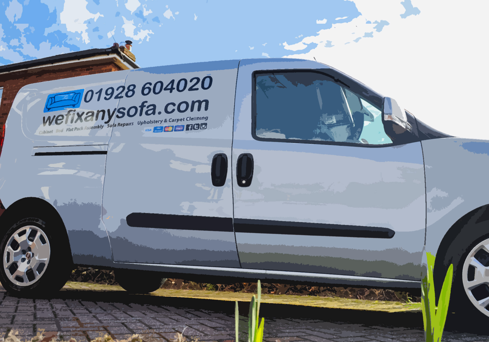 Wefixanysofa furniture repair van