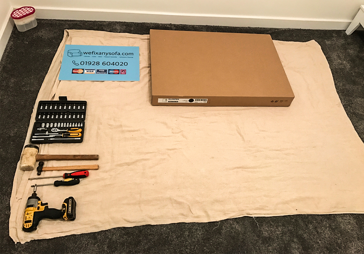 Flatpack Assembly Set Up With Tools