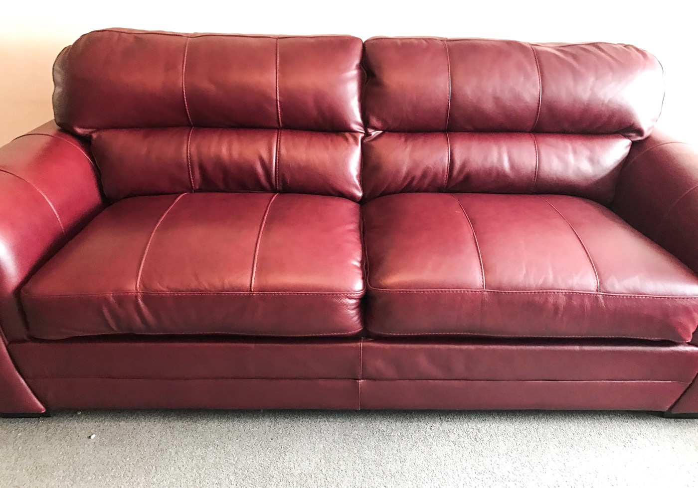 Red Leather Cushion Refilling Repair