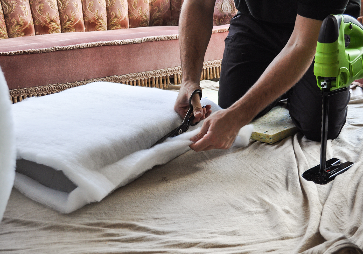 Sofa Cushion Repair Process
