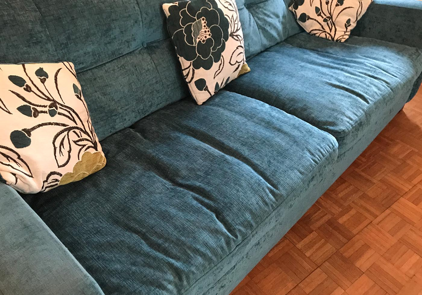 worn out sofa cushions