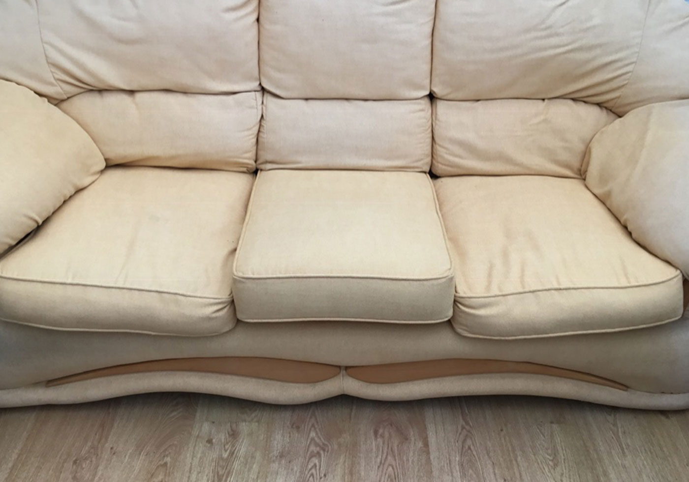 sofa cushion worn out and sagging