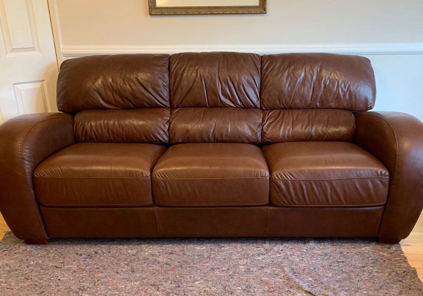 Italian leather sofa repair