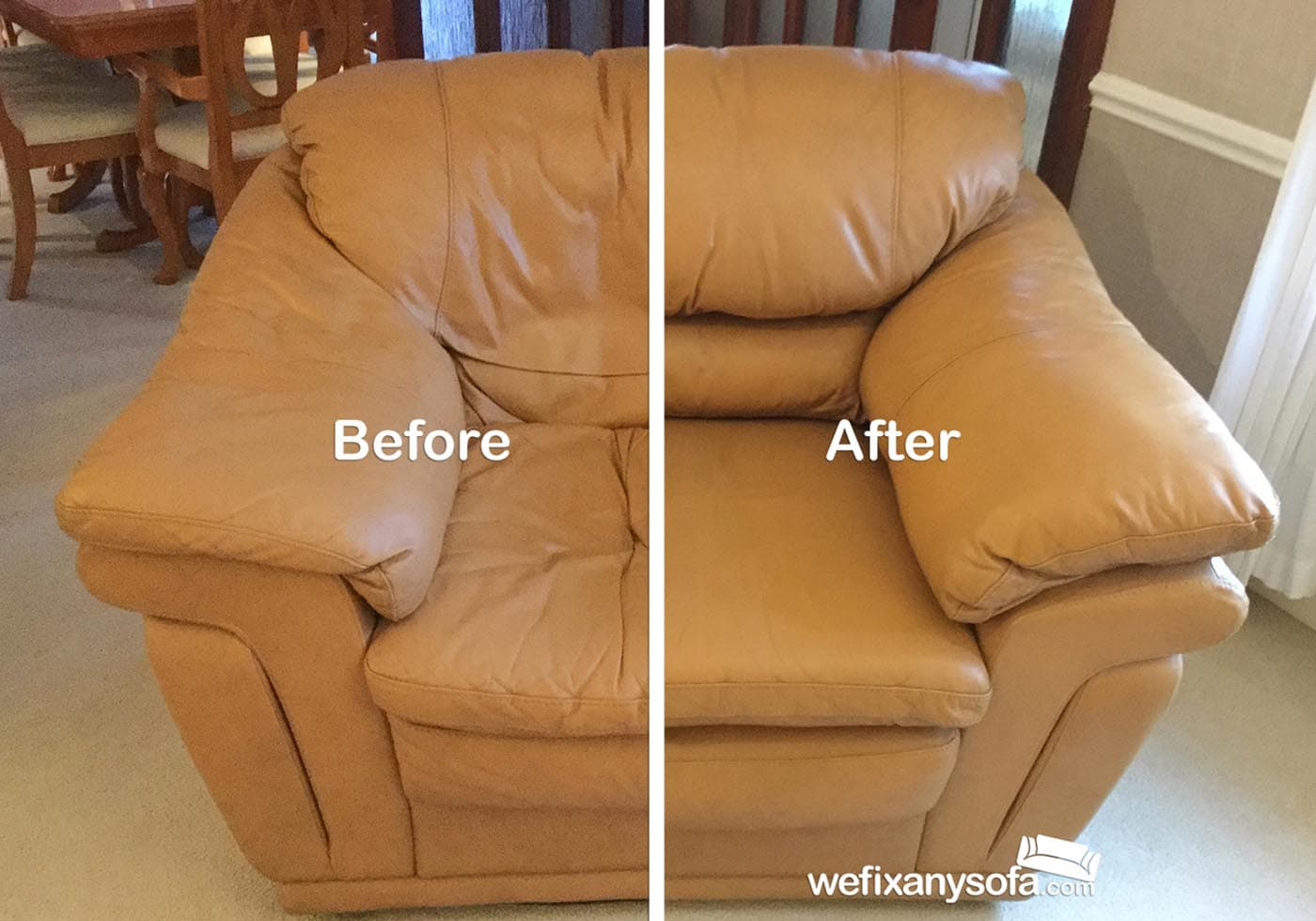 armchair with new cushion filling