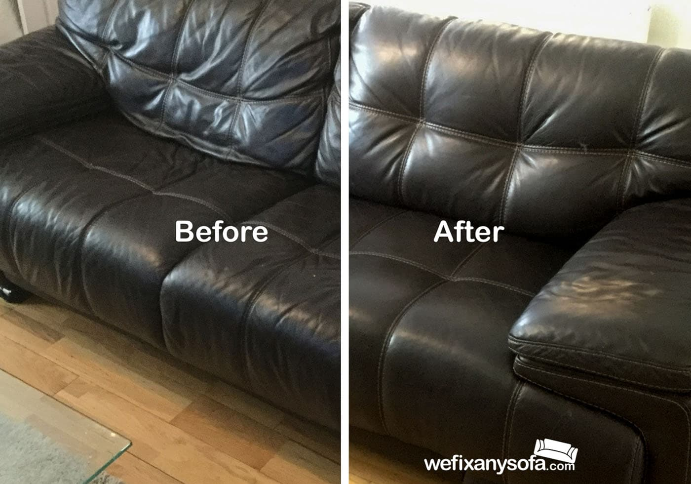 quilted leather sofa new cushion restoration